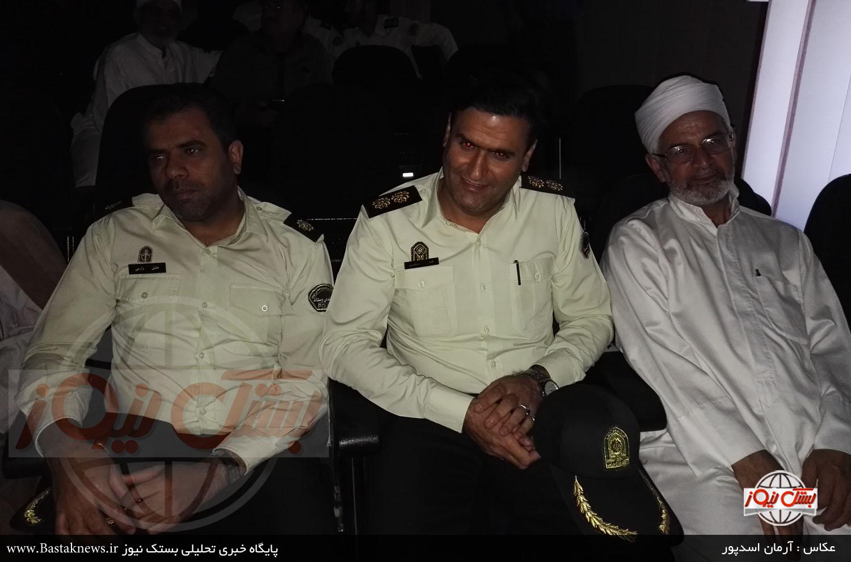 مراسم تودیع و معارفه فرمانده جدید نیروی انتظامی شهرستان بستک + گزارش تصویری