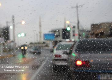 بارش رحمت الهی در بستک+گزارش تصویری