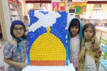 حضور اعضای کانون پرورش فکری شهرستان بستک در پانزدهمین جشنواره رضوی  با بیش از ۴۰ اثر