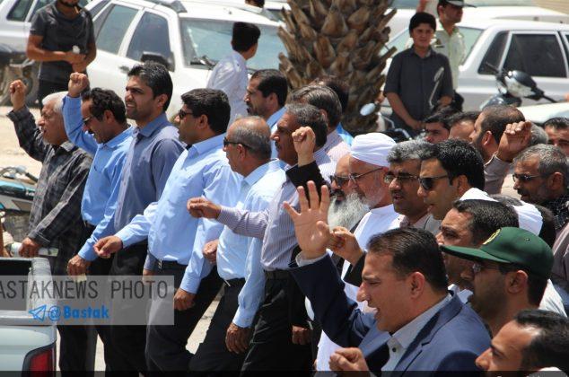 گزارش تصویری از حماسه حضور مردم شهرستان بستک در راهپیمایی روز جهانی قدس