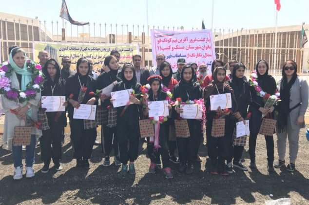 گزارش تصویری از استقبال دختران کونگ فو کار بستکی