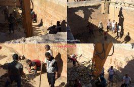 ریزش سقف مخزن آب در روستای برکه لاری