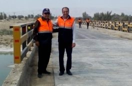 پل راه ارتباطی بستک -جناح با حضور بخشدار جناح بازگشایی شد