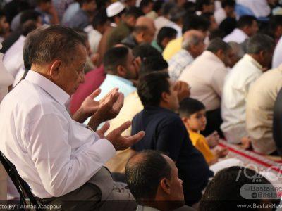 نماز عید سعید فطر در مسجد جامع بستک برگزار شد