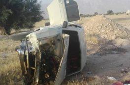 یک فوتی بر اثر واژگونی خودرو در محور بستک-بندرعباس