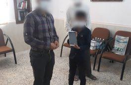 توزیع رایگان تبلت بین دانش آموزان بی بضاعت در شهرستان بستک