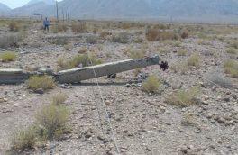 خسارت طوفان و تندباد شدید به شبکه برق ۱۰۰ روستای بستک