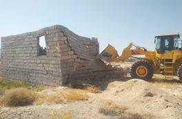 سه واحد ساخت و ساز غیرمجاز در اراضی کشاورزی در بستک قلع و قمع شد