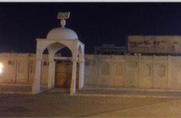 خاموش شدن چراغهای میدان دفاع مقدس و نور پردازی بنای تاریخی دبستان مصطفویه در رویداد ساعت زمین