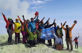 صعود موفقیت آمیز کوهنوردان بستک به قله ۴٠۵٠ متری تفتان