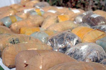 زمین گیر شدن محموله افیونی در شهرستان بستک